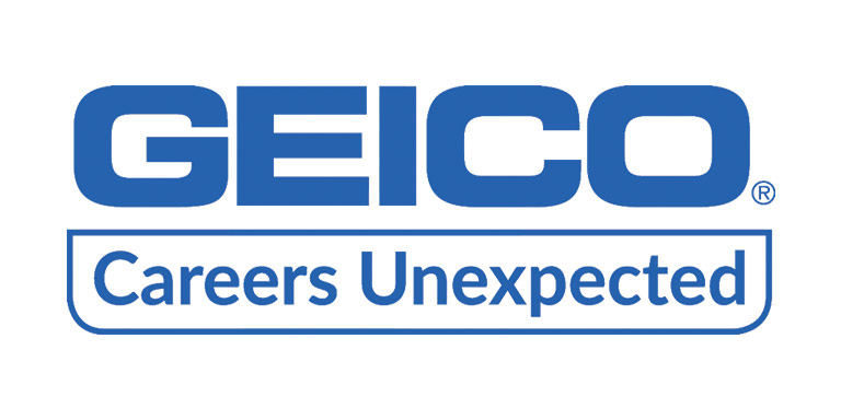 Geico logo, 'Careers Unexpected'