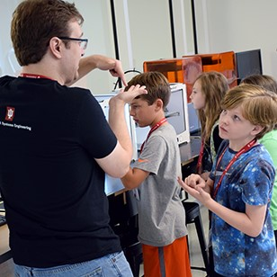Campers grades 5-8 got a chance to work with a variety of technology