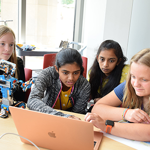 LEGO Boost robots helped Girl Scouts learn about programming.