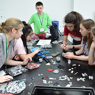 Campers had the opportunity to work with LEGO Mindstorm robotics, and more.