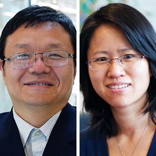 Haixu Tang (left) and Yuzhen Ye