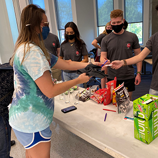 Students were recognized for their hard work during the Luddy Student Send Off.